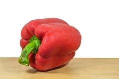 Pimenta doce vermelha e fundos brancos Fotos de Stock Royalty Free