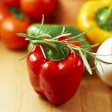 Pimenta e ervas imagens de stock royalty free
