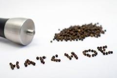 Pimenta e peppermill Imagem de Stock Royalty Free