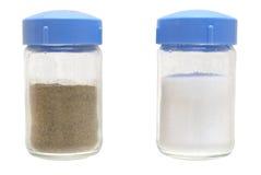 Pimenta e sal. Fotografia de Stock