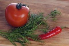 Pimenta e tomate Imagem de Stock Royalty Free