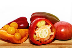 Pimenta e tomates Fotografia de Stock Royalty Free