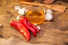 Pimenta, mel e alho de Ramiro Foto de Stock