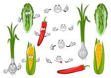 Pimenta, milho, cebola e couve Foto de Stock Royalty Free