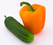 Pimenta, pepino Fotografia de Stock