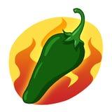 Pimenta quente verde Fotografia de Stock Royalty Free