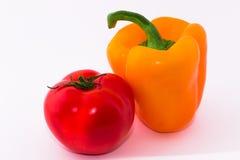 Pimenta, tomate fotografia de stock