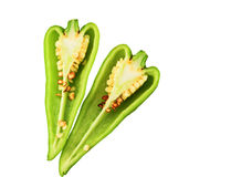 Pimenta verde Imagem de Stock Royalty Free