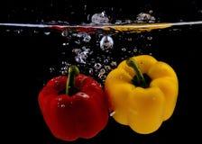 Pimenta verde de Frest vermelha e amarela Imagens de Stock Royalty Free
