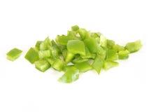 Pimenta verde desbastada fotografia de stock