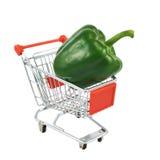 Pimenta verde em um carro do transporte Foto de Stock Royalty Free