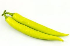 Pimenta verde isolada em um fundo branco Imagens de Stock