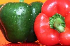 Pimenta vermelha e verde B Fotos de Stock