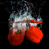 Pimenta vermelha na água Fotos de Stock