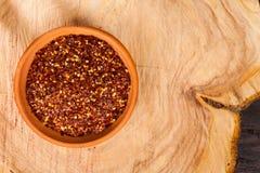 Pimenta vermelha ou pimenta de caiena esmagada Fotografia de Stock Royalty Free