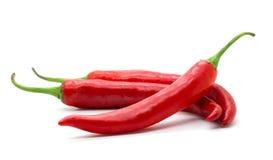Pimenta vermelha quente do pimentão ou de pimentões Foto de Stock