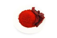 Pimenta vermelha secada Imagem de Stock