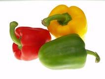 Pimentas amarelas e verdes vermelhas Fotos de Stock Royalty Free