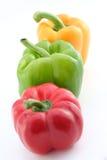 Pimentas amarelas e vermelhas verdes Imagens de Stock Royalty Free