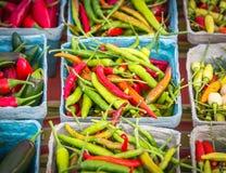 Pimentas Assorted Fotos de Stock