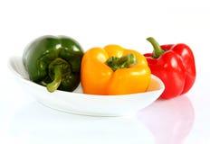 Pimentas coloridas Fotografia de Stock