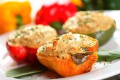 Pimentas com batatas Fotos de Stock Royalty Free
