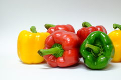 Pimentas de Bell amarelas e verdes vermelhas Imagem de Stock Royalty Free