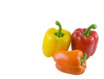 Pimentas de Bell coloridas Fotografia de Stock