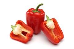 Pimentas de Bell vermelhas Fotografia de Stock Royalty Free