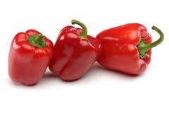 Pimentas de Bell vermelhas Foto de Stock Royalty Free
