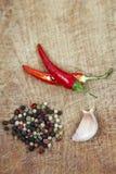 Pimentas de pimentão encarnados Fotografia de Stock
