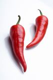 Pimentas de pimentão encarnados Fotos de Stock