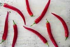 Pimentas de pimentão encarnados Imagens de Stock