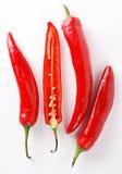 Pimentas de pimentão quente Imagens de Stock Royalty Free