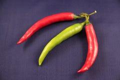 Pimentas de pimentão quente Imagem de Stock Royalty Free