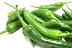 Pimentas de pimentão quente verdes foto de stock royalty free