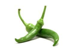 Pimentas de pimentão quente verdes Fotos de Stock