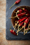 Pimentas de pimentão secadas Foto de Stock Royalty Free