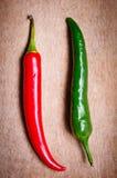 Pimentas de pimentão vermelhas e verdes Fotografia de Stock