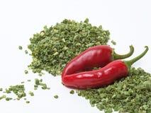 Pimentas de pimentão vermelho fotos de stock