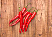 Pimentas de pimentão vermelho Imagens de Stock Royalty Free