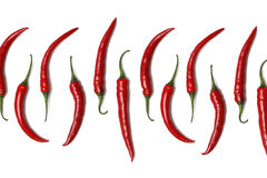 Pimentas de pimentão vermelho Imagem de Stock Royalty Free