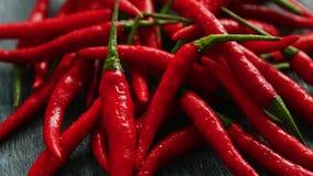 Pimentas de pimentão vermelho no close up filme