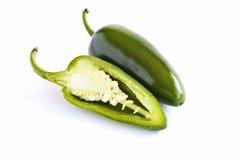 Pimentas de pimentões do Jalapeno cortadas Imagem de Stock Royalty Free