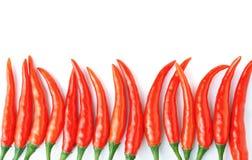 Pimentas de pimentões encarnados Fotos de Stock