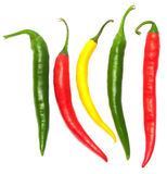 Pimentas de pimentões quentes Imagens de Stock Royalty Free