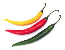 Pimentas de pimentões quentes Foto de Stock
