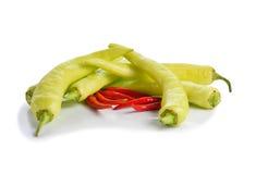 Pimentas de pimentões vermelhas e verdes Foto de Stock Royalty Free