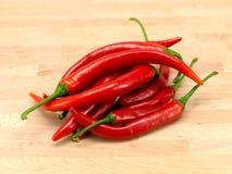 Pimentas de pimentões vermelhos Fotos de Stock Royalty Free