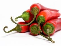 Pimentas de pimentões vermelhos Imagem de Stock Royalty Free